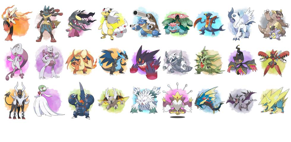 Pokemon X and Y Mega Evolutions